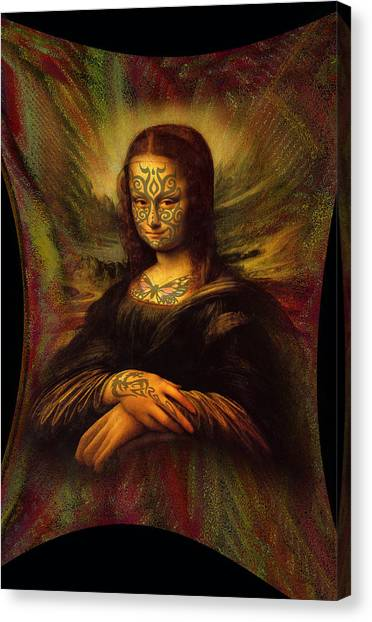 Rennaissance Art Canvas Print - Tattooed Mona Lisa by Totto Ponce