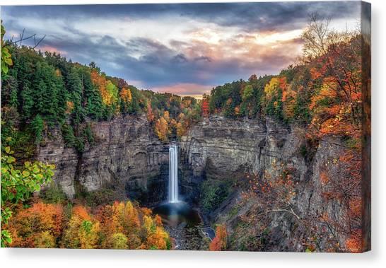 Taughannock Autumn Dusk Canvas Print