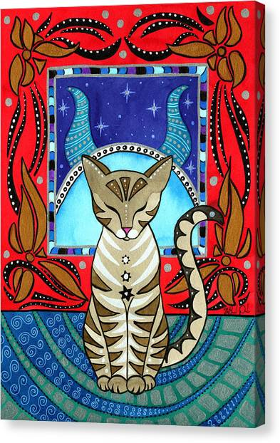 Taurus Cat Zodiac Canvas Print