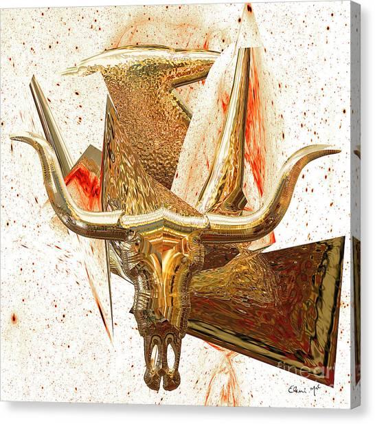 Canvas Print featuring the digital art Taurus by Eleni Mac Synodinos