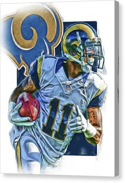 Los Angeles Rams Canvas Print - Tavon Austin Los Angeles Rams Oil Art 2 by Joe Hamilton
