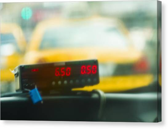 Taxi Meter Canvas Print