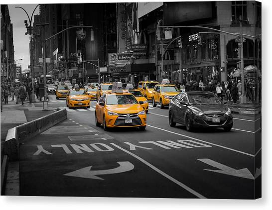 Taxi Please Canvas Print