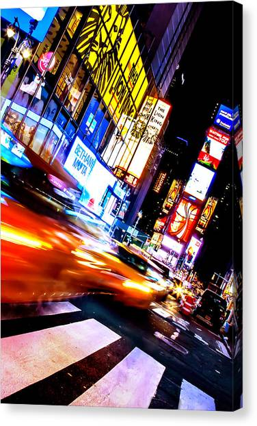 Empire State Building Canvas Print - Taxi Square by Az Jackson