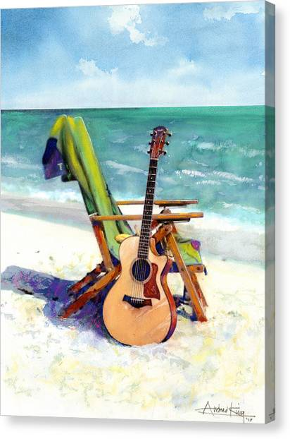 Seascapes Canvas Print - Taylor At The Beach by Andrew King