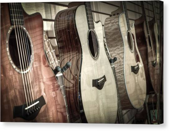 Acoustic Guitars Canvas Print - Taylor by David  England