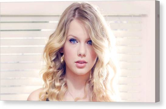 Taylor Swift Canvas Print - Taylor Swift by Mariel Mcmeeking