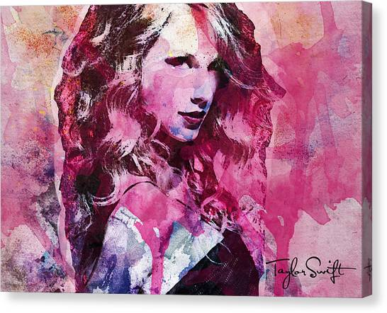 Taylor Swift Canvas Print - Taylor Swift - Oncore by Forever Art