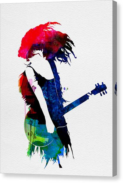 Classical Guitars Canvas Print - Taylor Watercolor by Naxart Studio