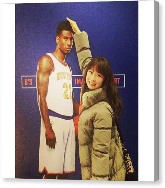 Basketball Players Canvas Print - #tbt #ny #nyc #nba #basketball #msg by Y K