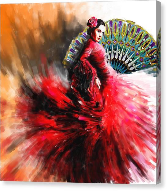 Salsa Canvas Print - Tcm Spanish 166 by Mawra Tahreem