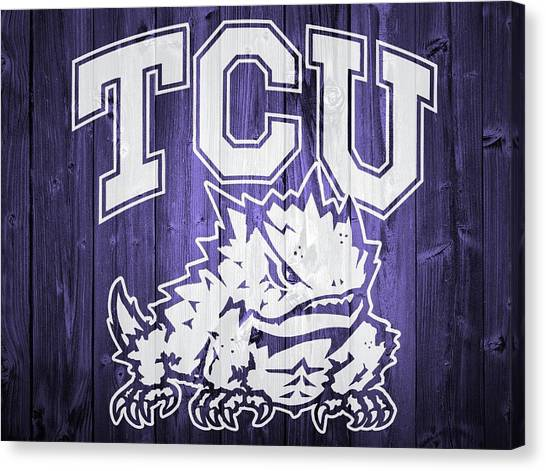 Texas Christian University Canvas Print - Tcu Barn Door by Dan Sproul