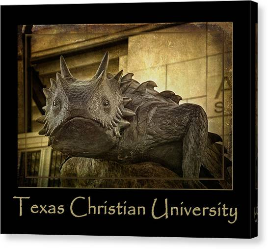 Texas Christian University Canvas Print - Tcu Frog Poster 2015 by Joan Carroll