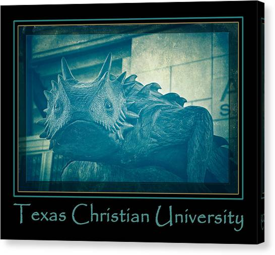 Texas Christian University Canvas Print - Tcu Horned Frog Blue Poster by Joan Carroll