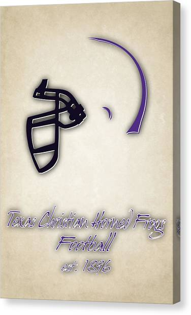 Texas Christian University Canvas Print - Tcu Horned Frogs Helmet 2 by Joe Hamilton