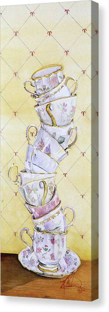 Tea - Ter Totter Canvas Print by Leah Wiedemer