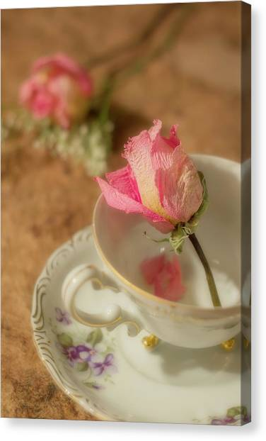 Tea And Roses Canvas Print