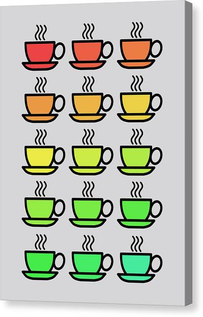 Coffee Plant Canvas Print - Tea Cups by Mark Rogan