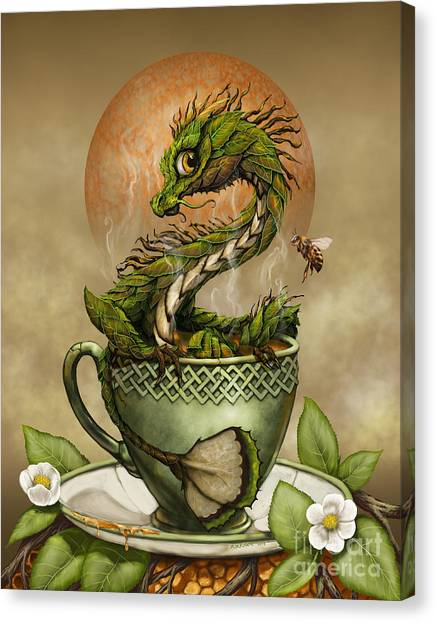 Dragons Canvas Print - Tea Dragon by Stanley Morrison