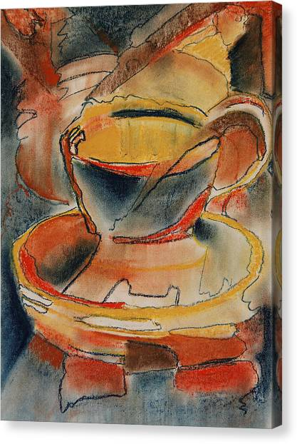 Tea For One - Korea Midnight Series Canvas Print by Shirley McMahon