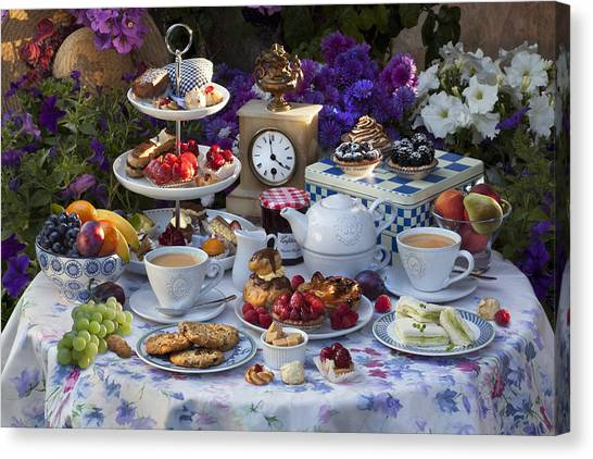 Sandwich Canvas Print - Tea For Two by © Simon Kayne