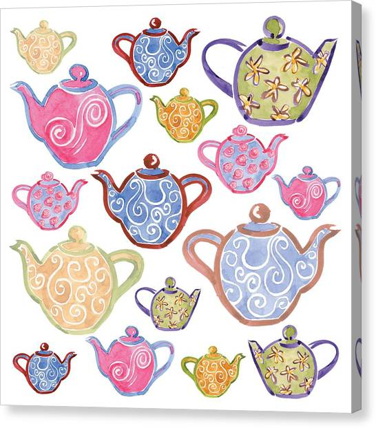 Tea Canvas Print - Tea For Two by Sarah Hough