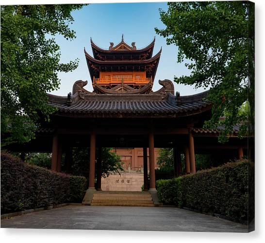 Tea House In The Morning I Canvas Print