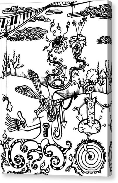 Pin Cushions Canvas Print - Tea In The Sahara  by Kelly Jade King