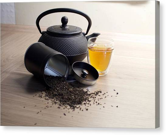 Tea Pot Canvas Print - Tea by Maye Loeser