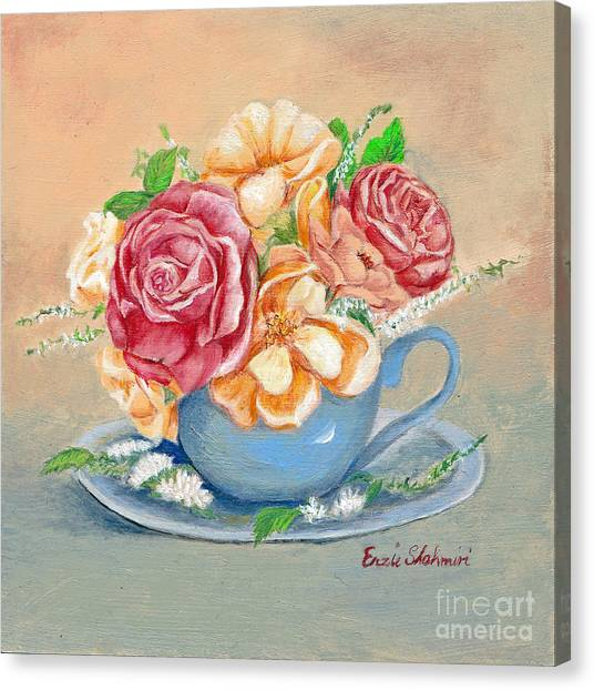Tea Roses Canvas Print