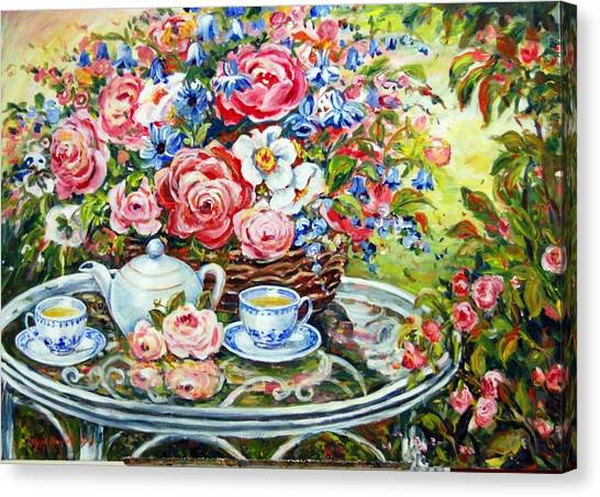 Tea Service Canvas Print