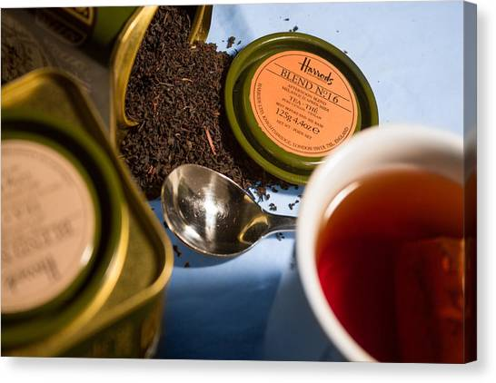 Canvas Print featuring the photograph Tea Time by Break The Silhouette