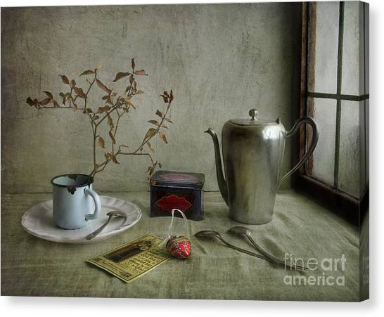 Tea Time Canvas Print - Tea Time by Elena Nosyreva