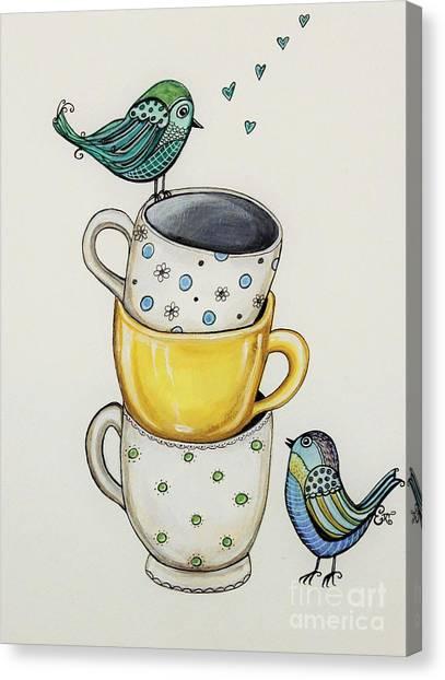 Tea Time Friends Canvas Print