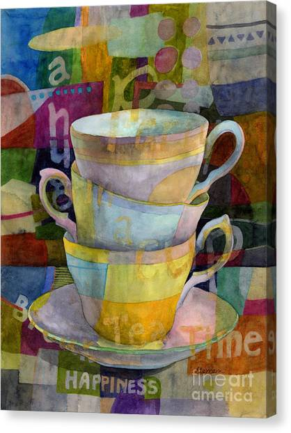 Tea Time Canvas Print - Tea Time by Hailey E Herrera