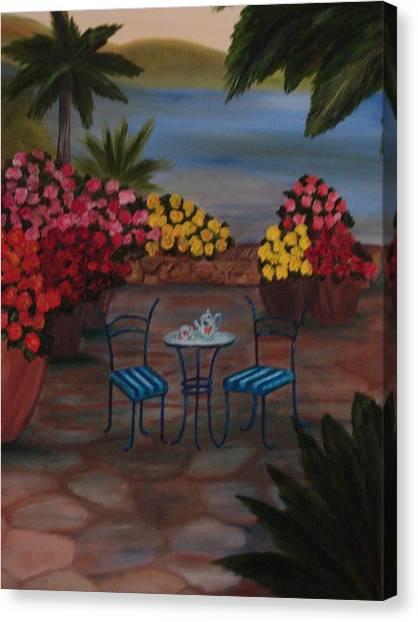 Tea Time Canvas Print by Shiana Canatella