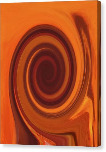Tea Twirl Right Canvas Print