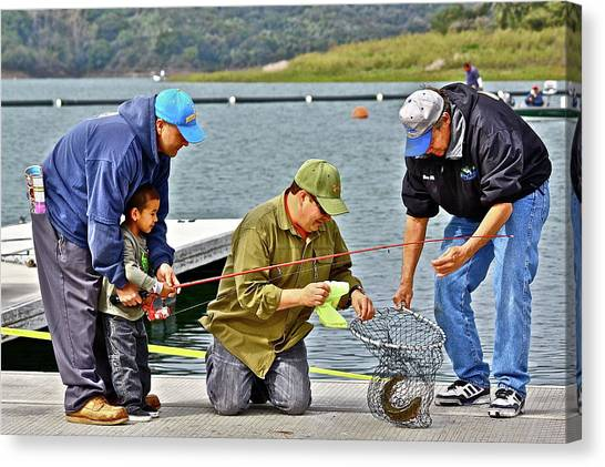 Teach Him To Fish Canvas Print