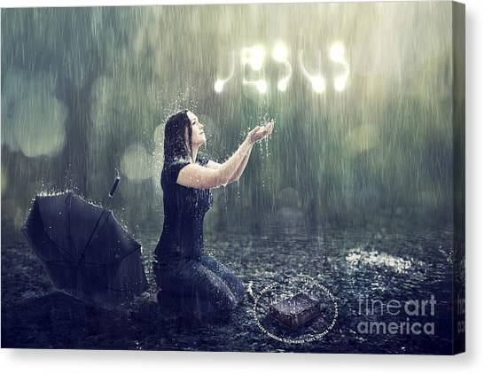 Teaches Me To Remain Stable In A Storm Canvas Print