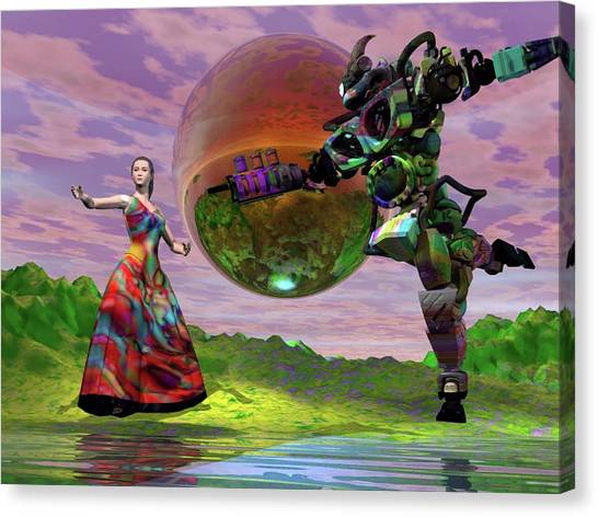 Canvas Print - Teaching Bobo To Dance by Dave Martsolf