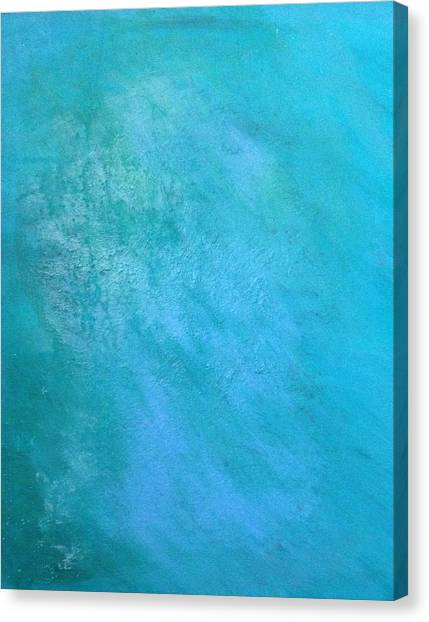 Canvas Print featuring the painting Teal by Antonio Romero