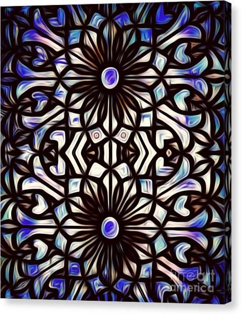 Teal Purple Vibe Canvas Print