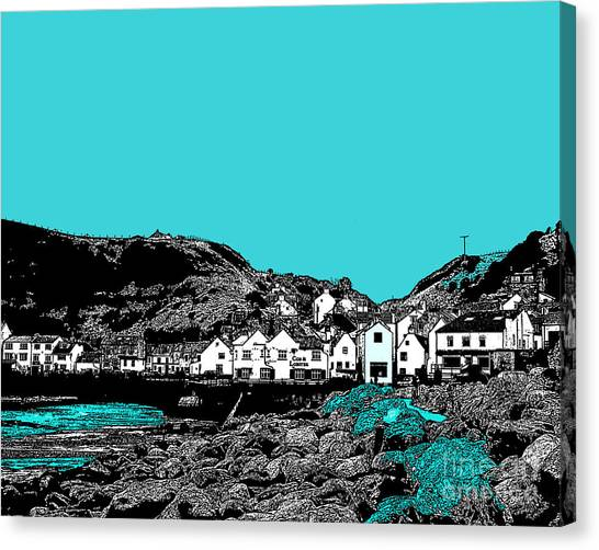 Teal Staithes Canvas Print