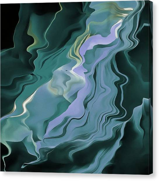Teal Turbulence Canvas Print