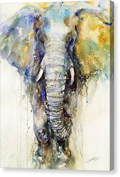 Teal Tusker Canvas Print