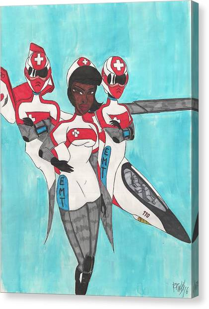 Medivac Canvas Print - Team Laura by Ronald Woods