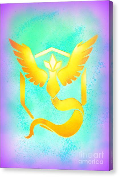 Pokemon Go Canvas Print - Team Mystic Gone Wrong by Justin Moore