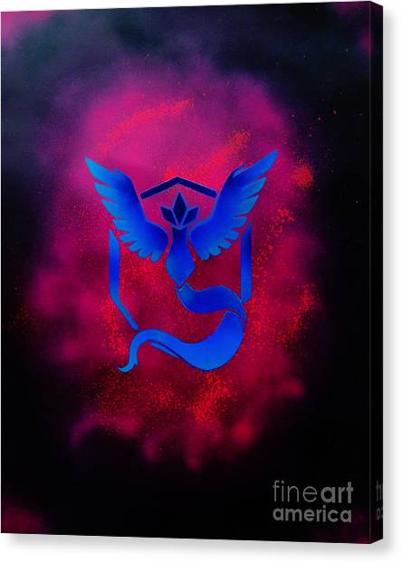 Pokemon Go Canvas Print - Team Mystic by Justin Moore