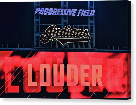 Cleveland Indians Canvas Print - Team Spirit by Frozen in Time Fine Art Photography