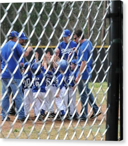 Baseball Teams Canvas Print - Little League by Gin Young